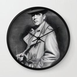 Classic Humphrey Black & White Drawing Wall Clock