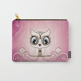 Cute little owl in decorative design Carry-All Pouch