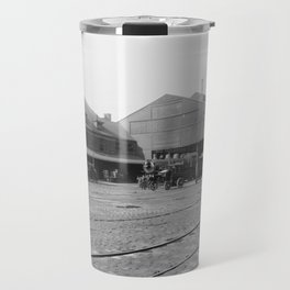 New York Central Railroad depot, Syracuse, N.Y. Travel Mug