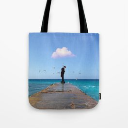 The Man Who Spoke To Birds Tote Bag