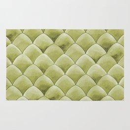Green Snakeskin-ish Tessallation Rug