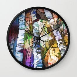 Aspen Trees Wall Clock