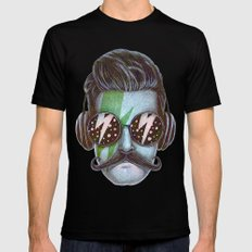 Dude (green) LARGE Black Mens Fitted Tee