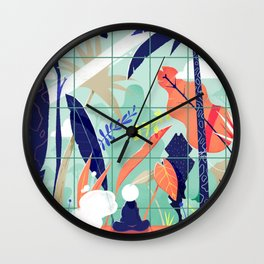 Living inside, dreaming outside. Wall Clock