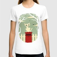 yetiland T-shirts featuring Let's meet at the red post box by Yetiland