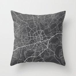 Essen Map, Germany - Gray Throw Pillow