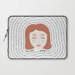Dana Scully - XF Quotes Laptop Sleeve