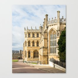 Sunshine on St. George's Chapel at Windsor Castle Canvas Print