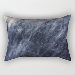 Blue Clouds, Blue Moon Rectangular Pillow