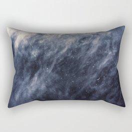 Blue Clouds, Blue Moon Rectangular Pillow