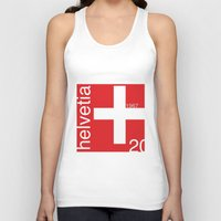 switzerland Tank Tops featuring Switzerland stamp  by Little Parcels Shop