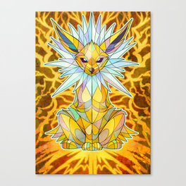 Stained Glass: Jolteon Canvas Print