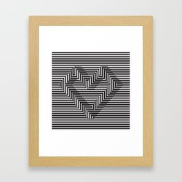 le coeur impossible (nº 1) Framed Art Print