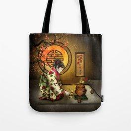 Camellia Tea Tote Bag