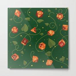 Polyhedral (Dice) Pumpkin Patch Metal Print