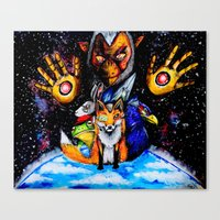starfox Canvas Prints featuring STARFOX by Modern8bit
