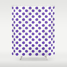 Purple flowers on white Shower Curtain