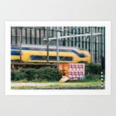 Commuter Train Art Print