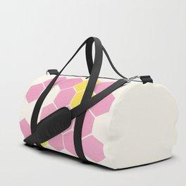 Pink Honeycomb Duffle Bag