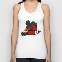 peanuts Tank Tops featuring Dragon Peanuts 2 by le.duc