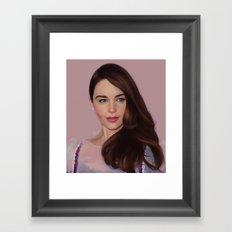 Emilia Clarke Framed Art Print