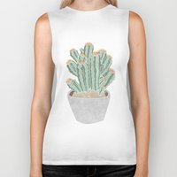 cactus Biker Tanks featuring Cactus by Veils and Mirrors