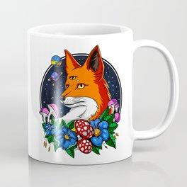 Psychedelic Fox Magic Mushrooms Coffee Mug