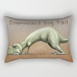 Downward Dog Fail Rectangular Pillow