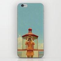 moonrise kingdom iPhone & iPod Skins featuring MOONRISE KINGDOM by VAGABOND