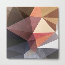 Retro Fall Geometric pattern Metal Print