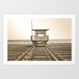 Beach Ocean Life Guard Art Print