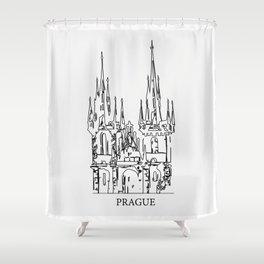 """ Travel Collection "" - Prague Print Shower Curtain"