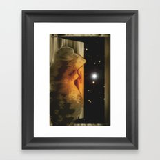 Exit to the stars. Framed Art Print