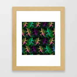 Watercolor women runner pattern on Dark Background Framed Art Print