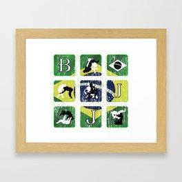 BJJ,  Brazilian Jiu Jitsu, Brasil, MMA, Gracie Framed Art Print