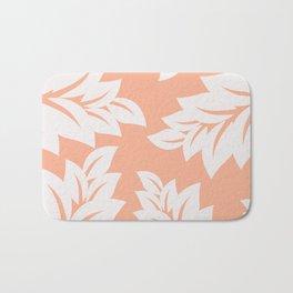 tropical coral leaves Bath Mat