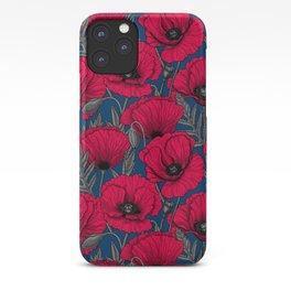 Night poppy garden  iPhone Case