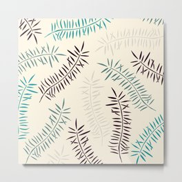 Bamboo branches and leaves Metal Print
