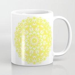 Mandala 12 / 1 eden spirit yellow white Coffee Mug