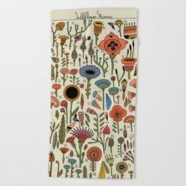 Wildflower Chart Beach Towel