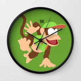 DIDDY KONG(SMASH)GREEN Wall Clock