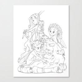 The Birch Queens Cape  Canvas Print