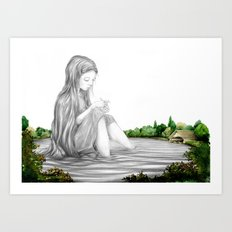Taught By Stillness Art Print