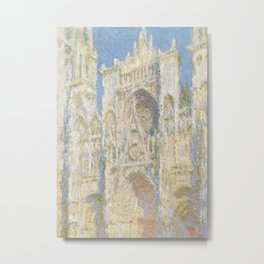 Rouen Cathedral, West Façade, Sunlight Metal Print