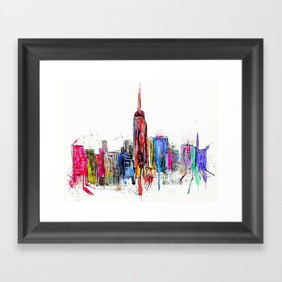 new york inked  Framed Art Print