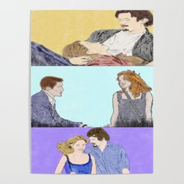 Before Sunrise Trilogy - Watercolor Poster
