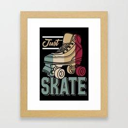 Just Skate | Retro Roller Skating Framed Art Print
