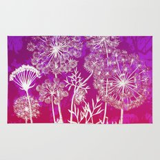 dandelions on purple and pink Rug