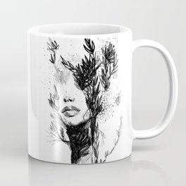 BLACK N WHITE WOMEN ABSTRACT FACE-LOVE Coffee Mug