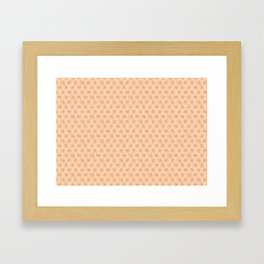 brown flowers on peach background Framed Art Print